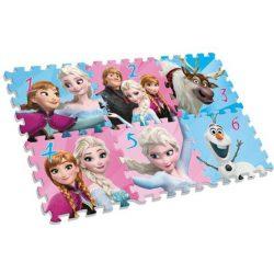 Jégvarázs szivacs puzzle szőnyeg, 6db-os