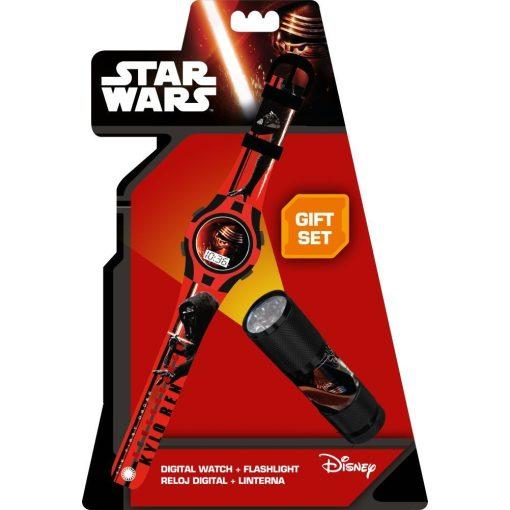 Star Wars digitális karóra és led lámpa