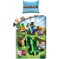Minecraft ágyneműhuzat szett 140*200 cm, 70*90 cm, Creeper