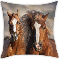 Lovas párna 40*40 cm, barna lovakkal