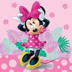 Minnie párnahuzat 40*40 cm, rózsaszín