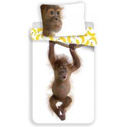Orángutános, majmos ágyneműhuzat szett 140*200 cm, 70*90 cm