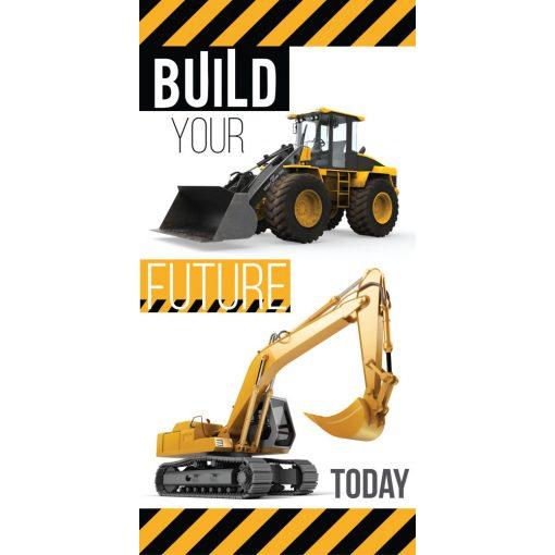 Építkezés fürdőlepedő, törölköző 70*140 cm, Build Your Future