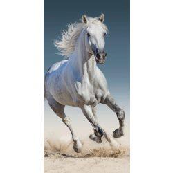 Lovas fürdőlepedő, törölköző 70*140 cm, fehér lóval