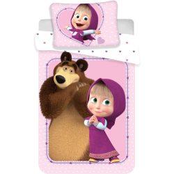 Mása és a medve ovis ágyneműhuzat szett 100*135 cm, 40*60 cm, Love