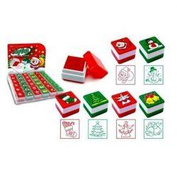 Karácsonyi nyomda, 6 féle, négyzet alakú