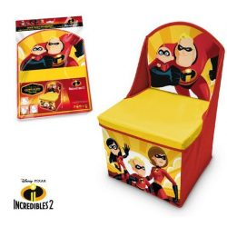 A hihetetlen család játéktároló szék 30*30*50 cm