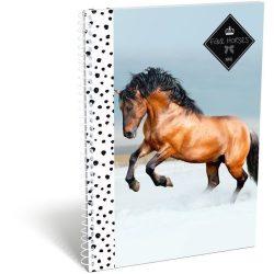 Lovas spirál füzet A/5 kockás Geo Horse Snow