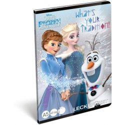 Jégvarázs füzet A/5, 32 lap lecke Frozen Adventure