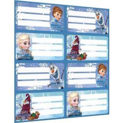 Jégvarázs füzetcímke, 8 db/ív Frozen Mix