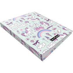 Unikornis gyűrűskönyv A/4, 2 gyűrűs Lollipop Magic