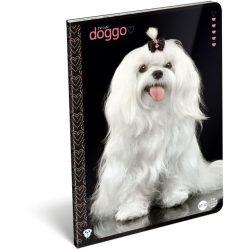 Kutyás füzet A/4, 32 lap kockás Dog Cute