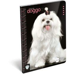 Kutyás füzet A/5, 32 lap kockás Dog Cute
