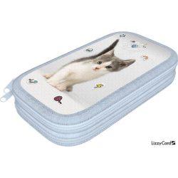 Cicás tolltartó, 2 emeletes, üres, Pet Fluff Kitten