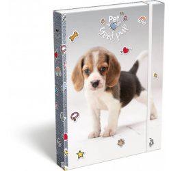 Kutyás füzetbox A/4 Pet Good pup