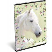 Lovas füzet A/4, 32 lap kockás Wild Beauty White