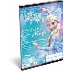Jégvarázs füzet A/5, 32 lap vonalas 1.osztály (14-32) Frozen Magic