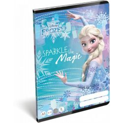 Jégvarázs füzet A/5, 32 lap vonalas 2.osztály (16-32) Frozen Magic