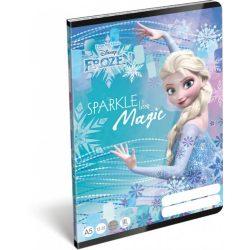 Jégvarázs füzet A/5, 32 lap vonalas 3.osztály (12-32) Frozen Magic