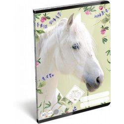 Lovas füzet A/5, 32 lap vonalas (21-32) Wild Beauty White