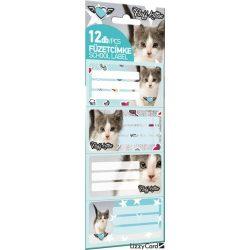 Cicás füzetcímke 12 db-os Pet Fluff Kitten