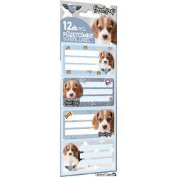 Kutyás füzetcímke 12 db-os Pet Good pup