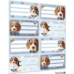 Kutyás füzetcímke íves 8 db/ív Pet Good Pup