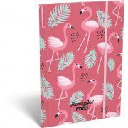 Flamingó gumis mappa A/4 Lollipop Flaming-Oh