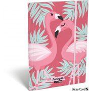 Flamingó gumis mappa A/5 Lollipop Flaming-Oh