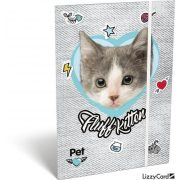 Cicás gumis mappa A/5 Pet Fluff Kitten