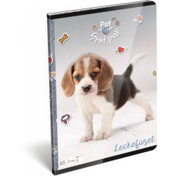 Kutyás füzet A/5, 32 lap lecke Pet Good Pup