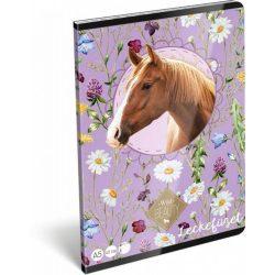 Lovas füzet A/5, 32 lap lecke Wild Beauty Brown