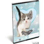 Cicás füzet A/5, 32 lap vonalas 1.osztály (14-32) Pet Fluff Kitten