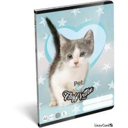 Cicás füzet A/5, 32 lap vonalas 2.osztály (16-32) Pet Fluff Kitten