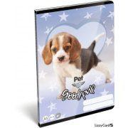 Kutyás füzet A/5, 32 lap sima Pet Good Pup