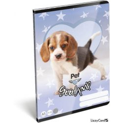 Kutyás füzet A/5, 32 lap vonalas (21-32) Pet Good Pup