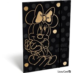 Minnie gumis mappa A/4 Minnie Fashion Black