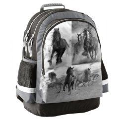 Lovas hátizsák, iskolatáska, ergonómikus