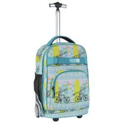 Paso gurulós hátizsák, táska, 51 cm, biciklis mintával