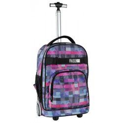 Paso gurulós hátizsák, táska, 51 cm, kockás mintával