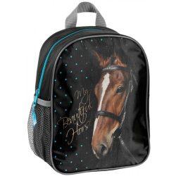 Lovas táska, hátizsák, 28 cm, fekete