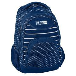 Paso hátizsák 43 cm, kék pöttyös-csíkos mintával