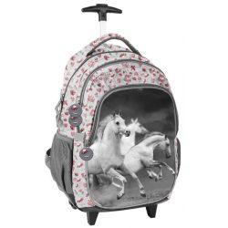 Lovas gurulós hátizsák, táska, 45 cm