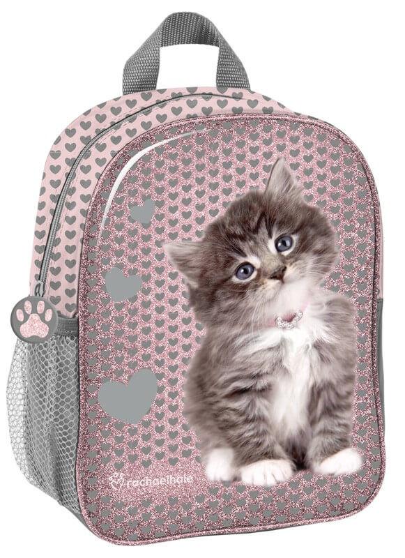 3dded64a829b Cicás hátizsák, 28 cm, szürke szívekkel, Be happy, Rachael Hale ...
