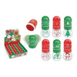 Karácsonyi nyomda, többféle, kör alakú