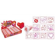 Love, Valentin napi nyomda, többféle, négyzet alakú