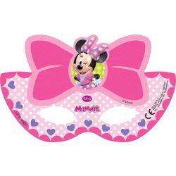 Minnie álarc, 6 db/csomag, rózsaszín