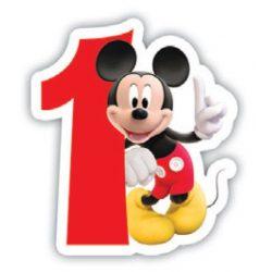 Mickey egér gyertya, számgyertya, 1-es