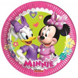 Minnie papírtányér 20 cm 8 db-os