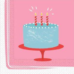 Születésnapi torta szalvéta 20 db-os